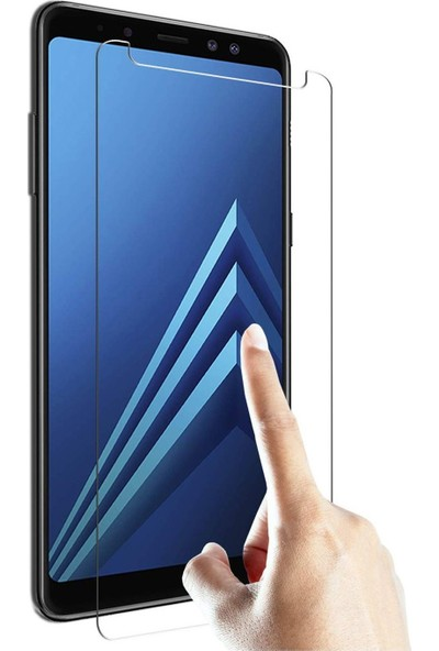 HerBütçeye Maxi Samsung Galaxy A8 Plus 2018 Şeffaf Temperli Cam