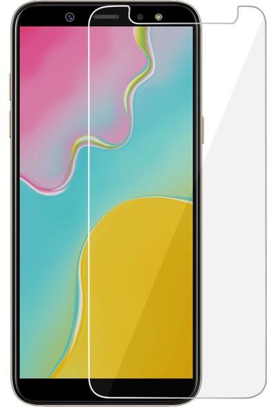 HerBütçeye Maxi Samsung Galaxy A6 Plus 2018 Şeffaf Temperli Cam