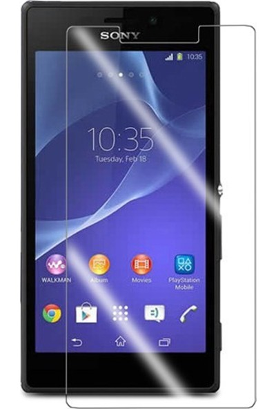 HerBütçeye Maxi Sony Xperia M2 Şeffaf Temperli Cam