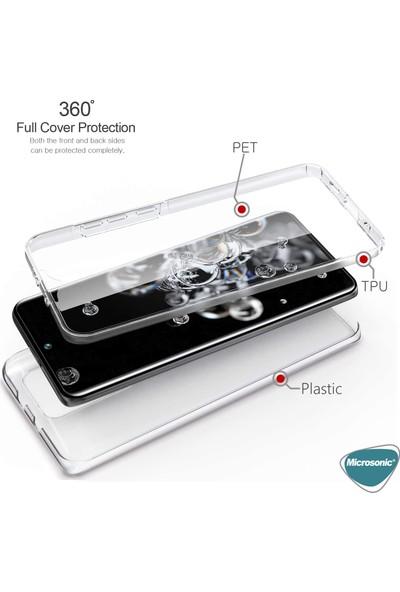Microsonic Samsung Galaxy S20 Ultra Kılıf 6 Tarafı Tam Full Koruma 360 Clear Soft Şeffaf