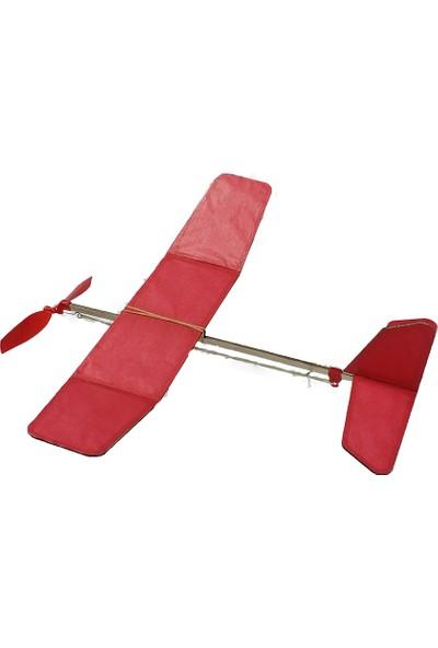 Hobi Modelci Lastik Motorlu Model Uçak Maket Uçak 3D Puzzle