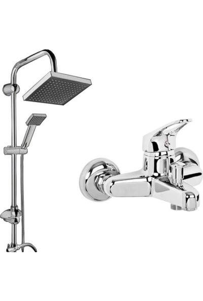 Prestij Set Mix Banyo Bataryası Robot Yağmurlama Tepe Duş Seti 2'li