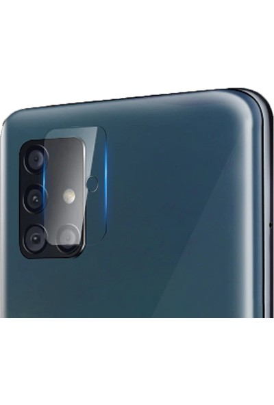 Kny Samsung Galaxy A51 Kamera Koruma Cam Ekran Koruyucu Şeffaf