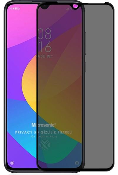 Microsonic Xiaomi Mi 9 Lite Privacy 5d Gizlilik Filtreli Cam Ekran Koruyucu Siyah