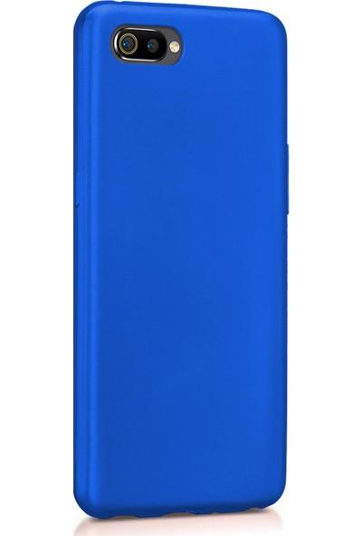 Microsonic Matte Silicone Realme C2 Kılıf Mavi