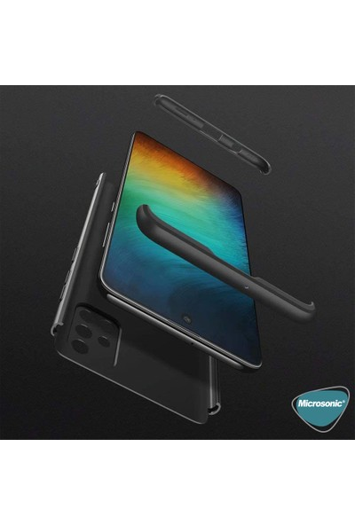 Microsonic Samsung Galaxy A71 Kılıf Double Dip 360 Protective Siyah