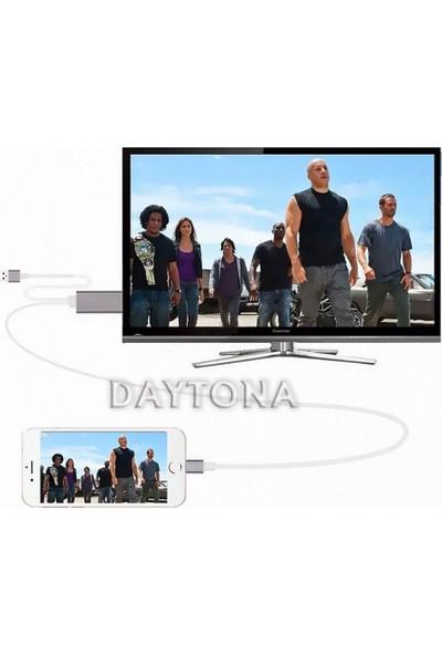 Daytona Lightning To HDMI Ultra Hd Görüntü Aktarım Kablosu - Beyaz