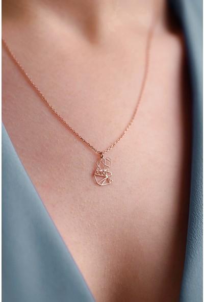 Mithra Jewelry Koala Origami Gümüş Kolye 925 Ayar