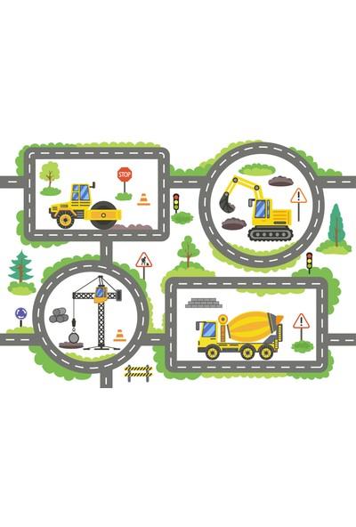 Yoyko İş Arabaları ve Cadde Çocuk Odası Oyun Halısı