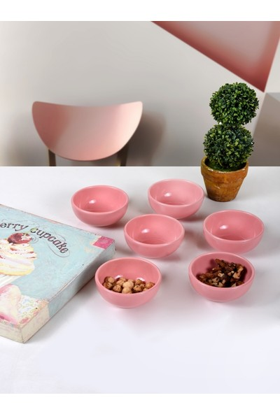 Keramika Pembe Bulut Çerezlik/Sosluk 8 Cm 6 Adet