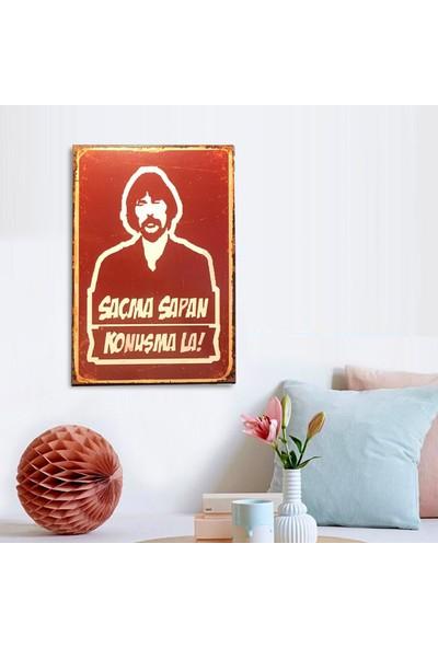 Ferman Hediyelik Behzat Ç Ahşap Retro Poster 17,5 x 27,5 cm