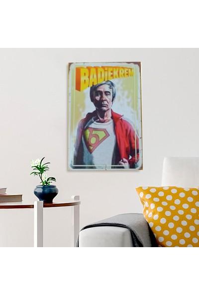 Ferman Hediyelik Badi Ekrem Ahşap Retro Poster 17,5X27,5 cm