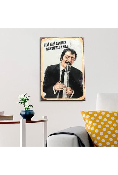 Ferman Hediyelik Müslüm Gürses Ahşap Retro Poster 17,5 x 27,5 cm
