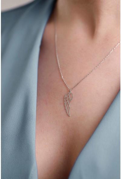 Mithra Jewelry Melek Kanadı Gümüş Kolye 925 Ayar