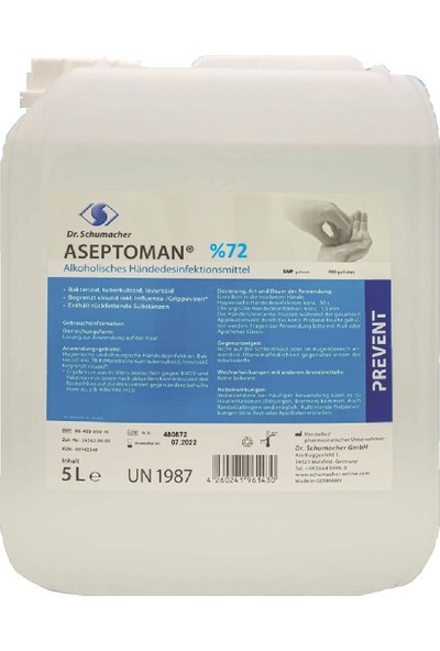 Dr.Schumacher Aseptoman El ve Cilt Dezenfektanı 5 lt