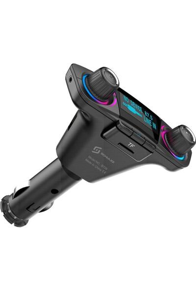 Schulzz BT06 Araç Mp3 Çalar Bluetooth Fm Verici Transmitter Adaptör Şarj Aleti
