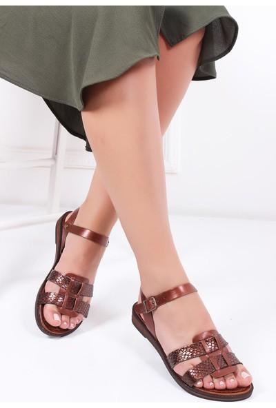 Deripabuc Hakiki Deri Twinkle-3 Kadın Deri Sandalet Dp-0078