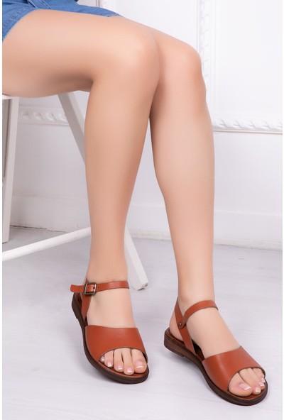 Deripabuc Hakiki Deri Taba Kadın Deri Sandalet Dp-0086