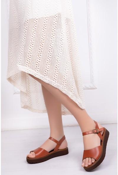 Deripabuc Hakiki Deri Taba Kadın Deri Sandalet Dp-0096