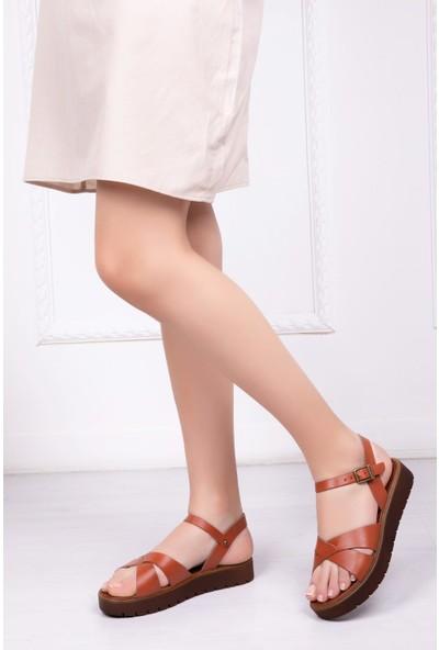 Deripabuc Hakiki Deri Taba Kadın Deri Sandalet Dp-0100