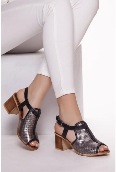 Deripabuc Kadın Günlük Deri Sandalet