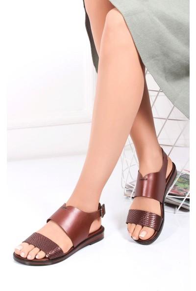 Deripabuc Hakiki Deri Twinkle-3 Kadın Deri Sandalet Dp-0073