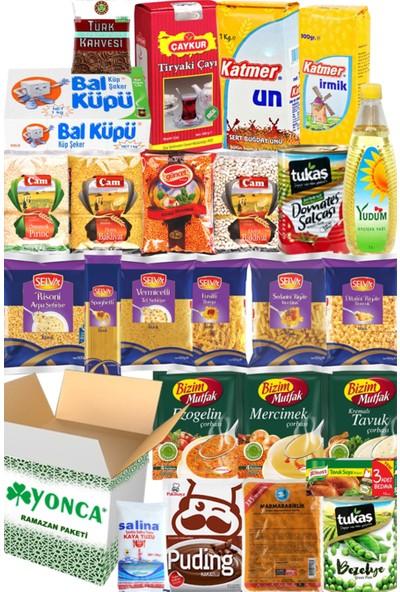 Ramazan Erzak Yardım Paketi Kolisi Hediye 2020 25 Parça No:6