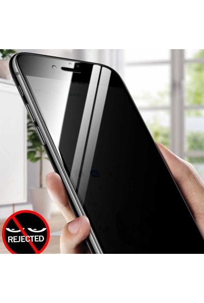 Case 4U Apple iPhone SE 2020 Privacy Hayalet Cam Ekran Koruyucu Siyah