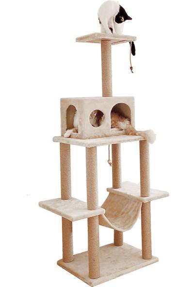 Turkuaz Pet Tr891 Zooplus Katlı Kedi Oyun Evi Bej