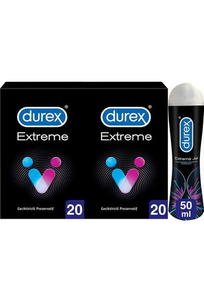 Durex Extreme 40'lı Prezervatif + Extreme Jel