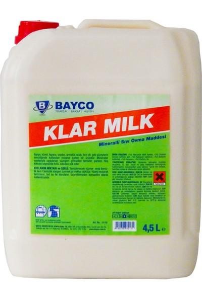 Bayco Klar Milk Mineralli Sıvı Ovma Maddesi 4,5lt