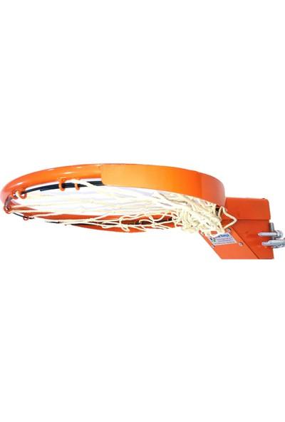 Adelinspor Standart Basketbol Çemberi 45 cm Esneyen Yaylı , Halkalı Ağ Bağlantısı