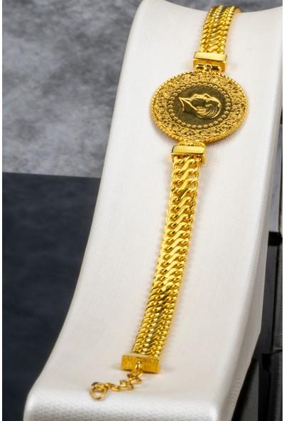 Ideal Sarraf 22 Ayar Çeyrekli Zincir Kulp Altın Bileklik