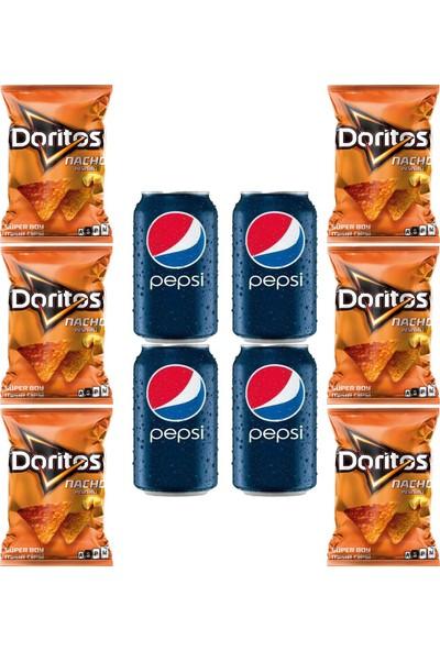 Doritos Naco 120 gr x 6 Adet - Pepsi Kutu Kola 330 ml 4x Adet