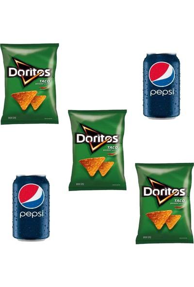 Doritos Taco 120 gr X3 Adet - Pepsi Kutu Cola 330 ml X2 Adet