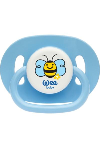 Wee Baby Oval Gövdeli Yuvarlak Uçlu Emzik No:2 - Mavi