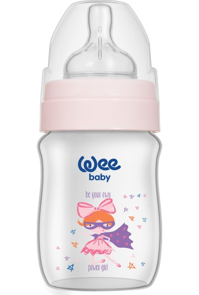 Wee Baby Klasik Plus Geniş Ağızlı Pp Biberon 150 Ml - Pembe Dinozor