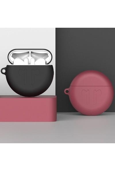 Ally Huawei Freebuds 3 Bluetooth Silikon Kılıf + Anahtarlık AL-31908 Siyah