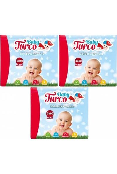 Baby Turco Islak Havlu 3 x 60'lı x 3 Paket
