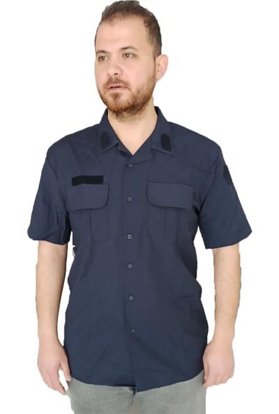 Mercantex Jandarma Asayiş Kısa Kol Lacivert Gömlek