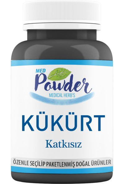 Med Powder Saf Kükürt Toz 150Gr Medikal Paketleme