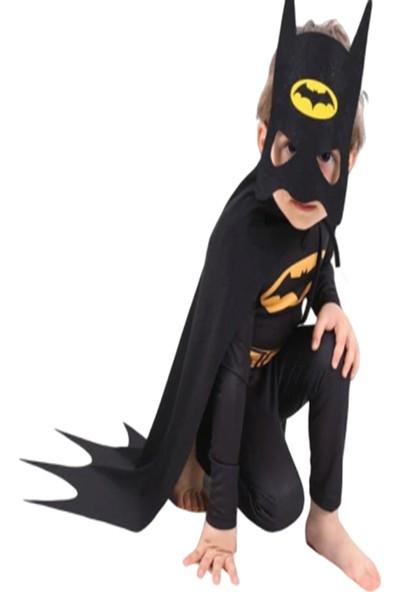 Ek Bebek Pelerinli Maskeli Batman Kostümü