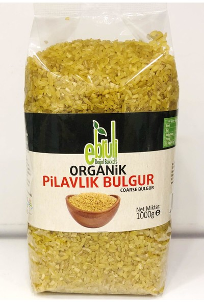 Ebruli Doğal Bakkal Organik Pilavlık Bulgur 1 kg x 2'li
