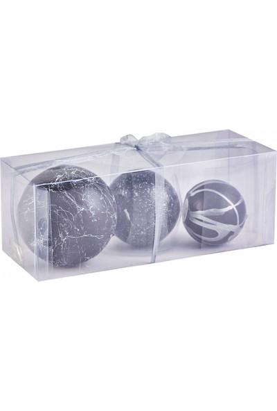 Jumbo Royal Mum Set 3'lü Gümüş