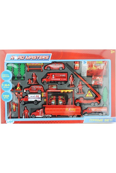 Mega Oyuncak Yakıt Tankerli Metal Itfaiye Seti JP206