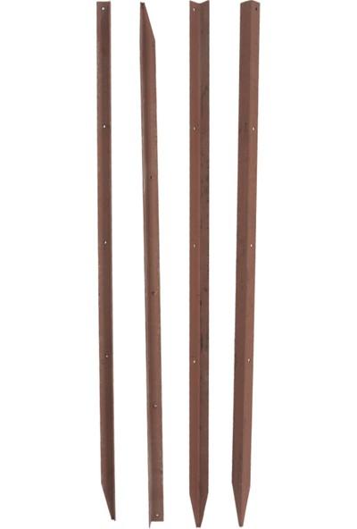 Ege Arge Çit Direği Boyalı 4 Delikli Köşebent 1,5 m 4'lü