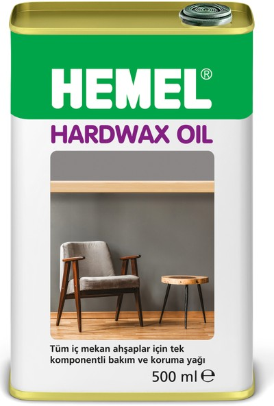 HEMEL Hardwax Oil Doğal Bakım ve Koruma Ürünü Dark Oak 500 ml
