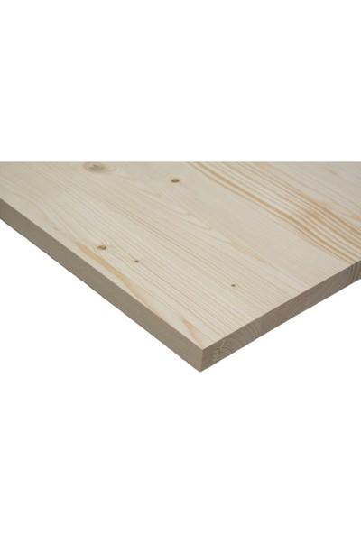 Woodlife Ahşap Plaka Masif Panel Çam 10 x 40 x 1,8 cm