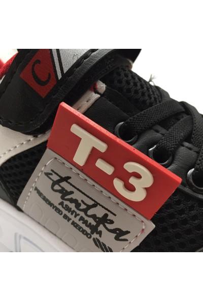 Carby 2002 Erkek Çocuk Spor Ayakkabı Siyah