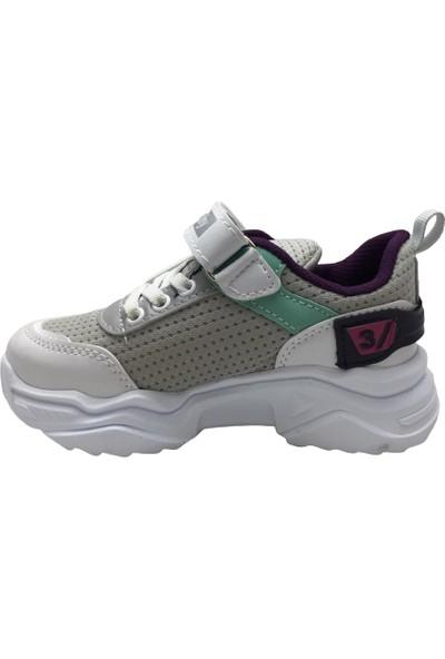 Carby 2002 Kız Çocuk Spor Ayakkabı Gri Mor